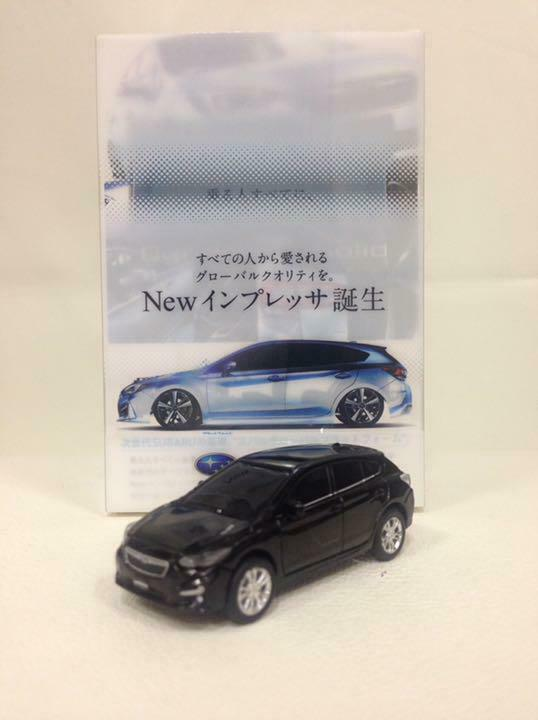 Subaru Impreza reculons jouet voiture dealer promo rare non vendu en magasin  10342