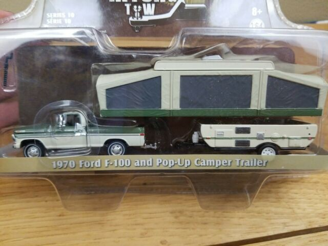 1981 FORD CROWN Ltd Country Squire POP UP CAMPER trailer ** Greenlight 1:64 NUOVO