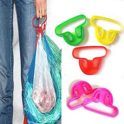 T Shaped Bucket Bag Food Stuff Vegetable Soft-Grip Handle Lifter Holder Hanger