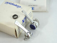 Campagnolo C RECORD shifters 2 Down Tube Shift Levers W Black 7 Spd Chorus NOS