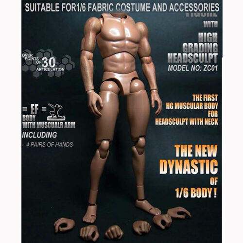 """1:6 Scale Muscular Wide Shoulder Action Figure Body For 12/"""" Hot Toys Headsculpt"""