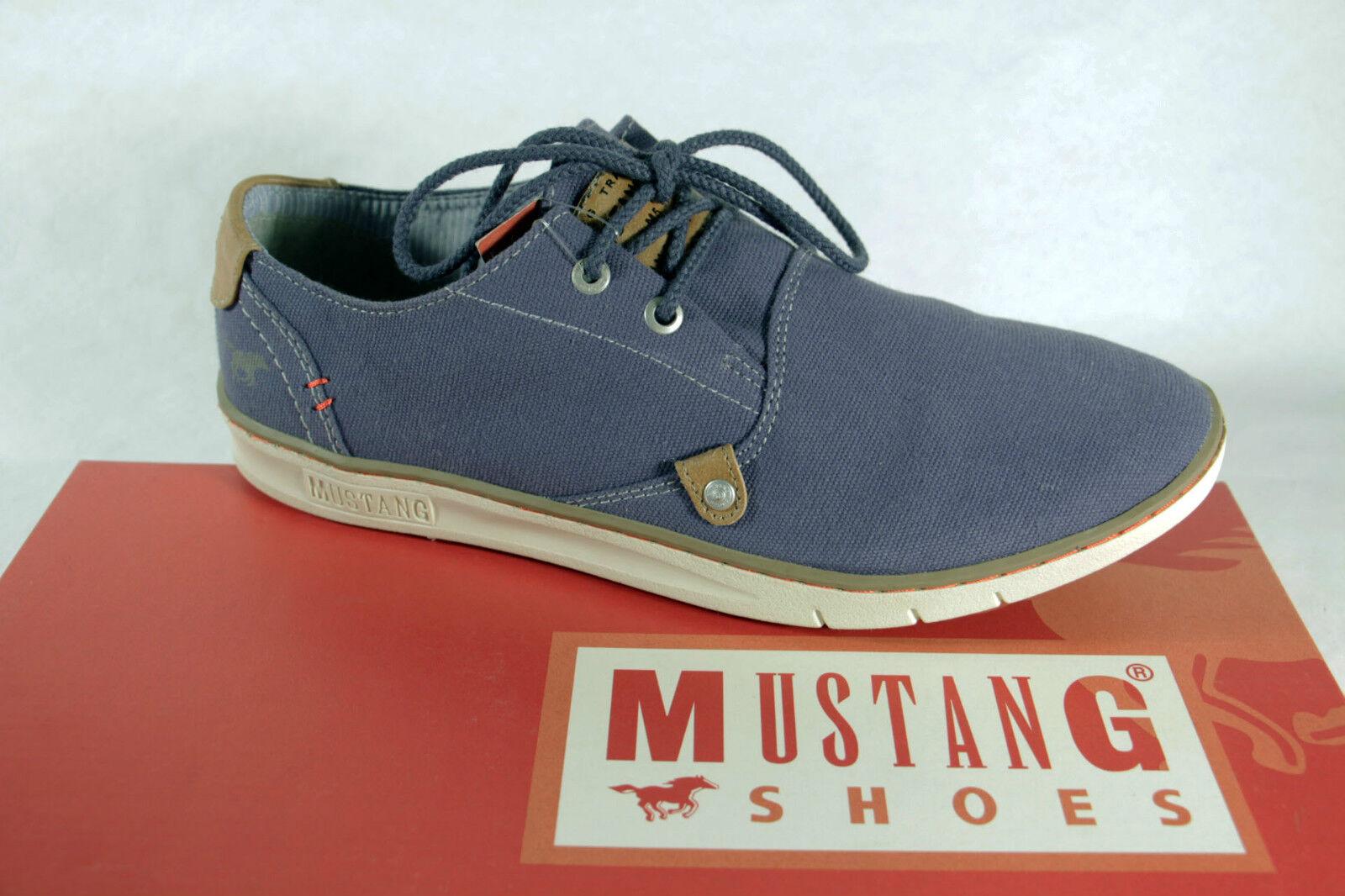 Mustang Herren Schnürschuh Sneaker Sportschuh Halbschuh blau NEU
