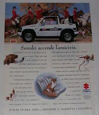 Advert Pubblicità 1991 SUZUKI VITARA SOFT TOP