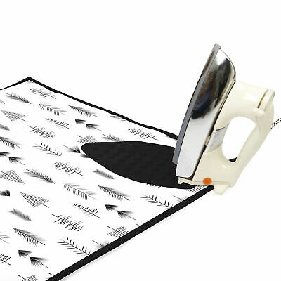 with 3mm Padding /& Silicone Iron Rest for Steam Pressing on Tabletop or Bed Portable Large 47 x 28 inch Encasa Homes Ironing Mat // Pad Black Arrow Quilting /& Travel Blanket Heat Resistant