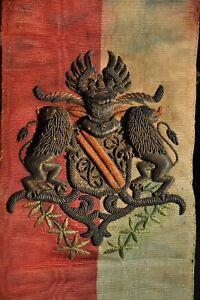 ECHARPE-ANCIENNE-GRANDES-ARMES-DE-STRABOURG-ARMOIRIES-XVIII-COAT-OF-ARMS
