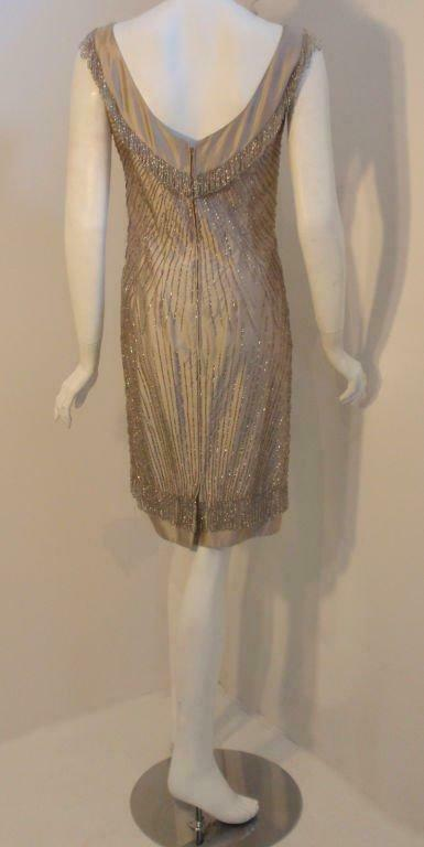 CEIL CHAPMAN 1950s Champagne Silk Shimmering Cock… - image 4