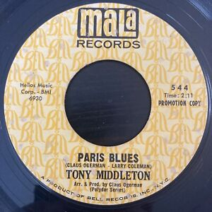 Tony Middleton - Paris Blues / Out Of This World - Mala PROMO - NORTHERN SOUL 45