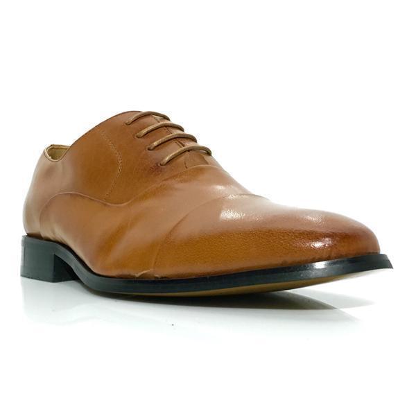 Men's La Milano Oxford Dress shoes F591 Tan