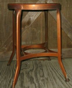 1930s-Industrial-Toledo-Uhl-Steel-Machinist-Stool-Kitchen-Desk-Bar-Loft-VTG