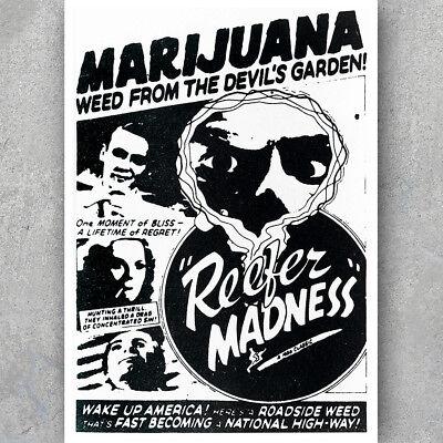 Anti Weed Propaganda A3 A6 Vintage POSTER MARIJUANA Retro Art Decor Print