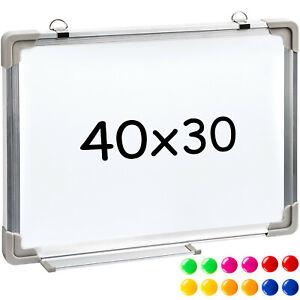 Whiteboard-Magnettafel-Wandtafel-40-x-30-cm-12-Magnete-Praesentationstafel-neu