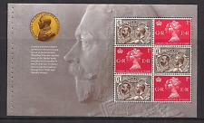 2010 GB QEII DX50 Rey George V sello conmemorativo de adhesión folleto panel 3066A