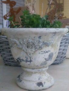 Pot de fleurs Valo Bac à plantes Shabby Chic Ornement Décoration ...