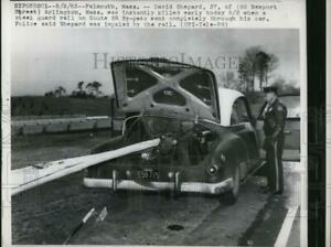 1963 Press Photo David Shepard Killed in Accident in Falmouth Massachusetts