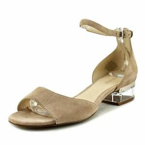 Nine-West-Womens-Volor-Open-Toe-Casual-Ankle-Strap-Natural-Suede-Size-6-5-kSGY