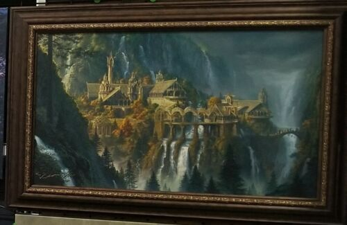 The Hobbit Artwork Lord of the Rings Rivendell The Last Homely House Fine Art
