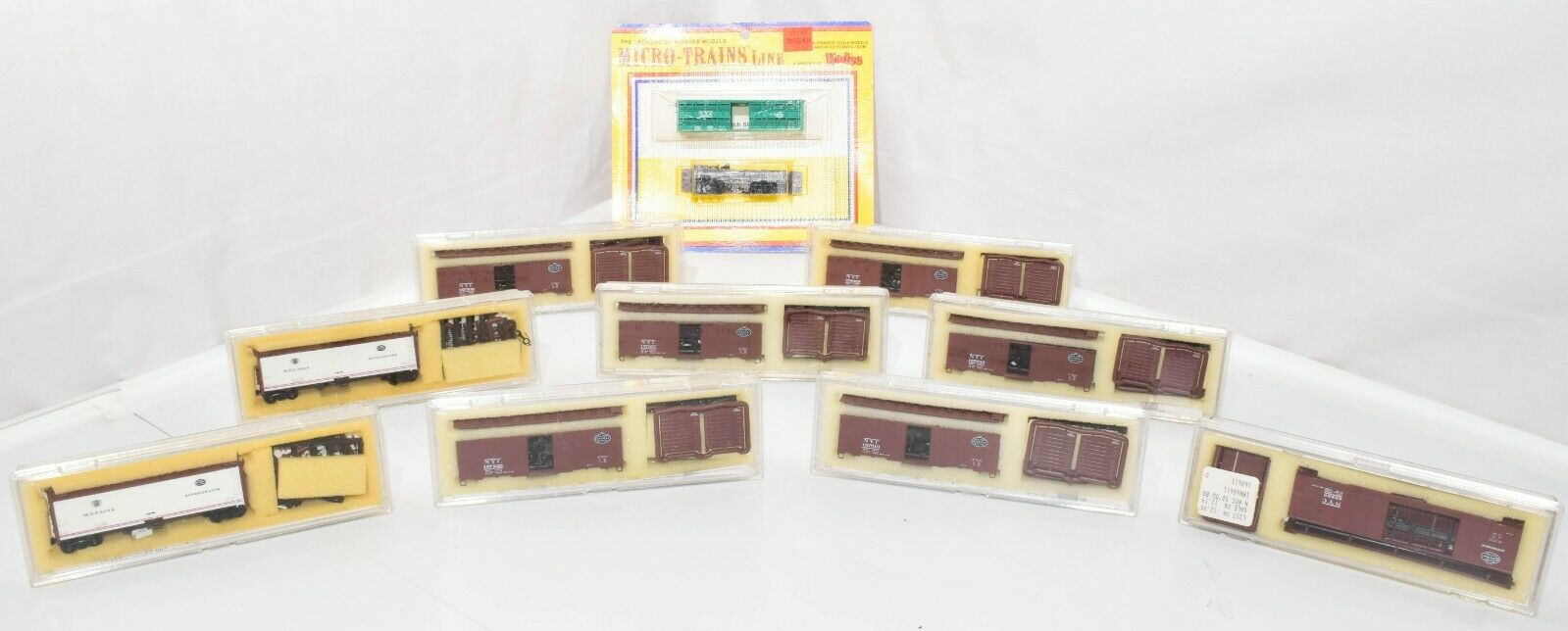 NEW Lot 10 N Scale Freight Cars Various 9 InterMountain 1 Micro Trains Vintage