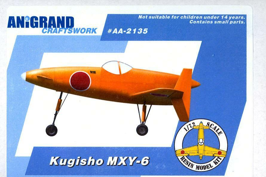 Anigrand Models 1 72 KUGISHO MXY-6 Japanese Test Bed for the Shinden Fighter