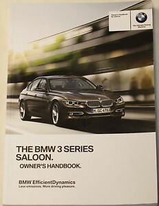 genuine bmw 3 series f30 2012 2017 saloon genuine handbook owners rh ebay com 2013 bmw 335i owners manual 2012 bmw 3 series owners manual