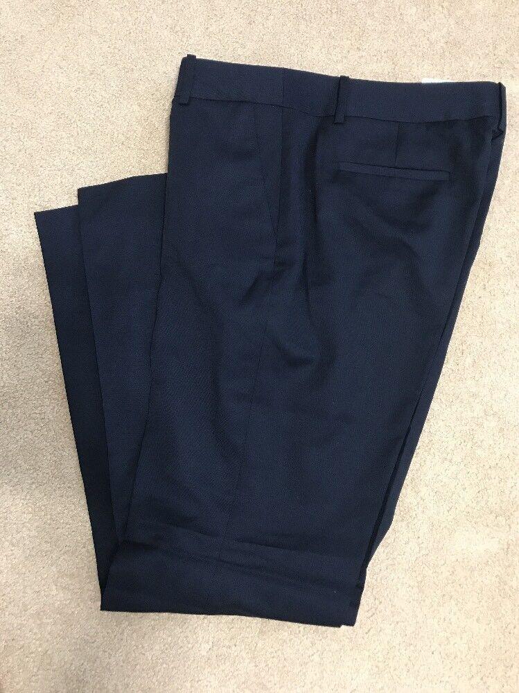 J Crew Factory Womens Lightweight wool trouser 12 Navy bluee Pant  108 F3733