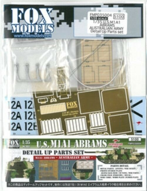 Fox Models 1 35 EE.UU. M1a1 Abrams Australiano Ejército Detail Up Parts Set