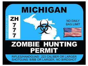 Michigan-Zombie-Hunting-Permit-Bumper-Sticker