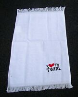 Twirler Towel I Heart Baton White Red Heart Baton Twirling Twirler Sweat Towel