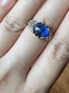 Natural Kyanite Blue Gemstone Ring