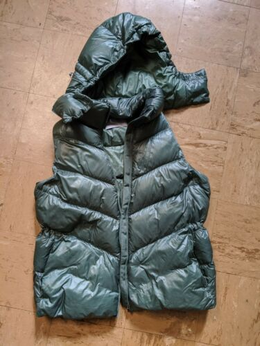 ATHLETA Juniper Green Lofty Down Puffy Vest Jacket