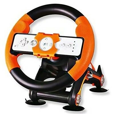 WHEEL FOR NINTENDO WII WITH BASE ACCESSORIES SPORT MARIO KART GAMES CONTROLLER