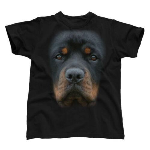 Big face animal rottweiler tee-shirt homme