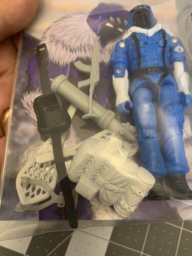 Newest Comme neuf IN BOX Noir Major GI JOE COBRA 1986 Snow Serpent génial Bleu Lot de très belle
