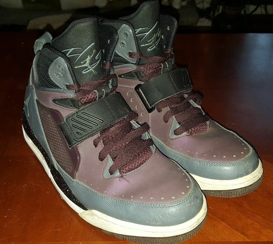 Mens Basketball Sneakers Sneakers Sneakers AIR JORDAN FLIGHT 97 Grey-Purple shoes Sz 11 654265-609 c4f902