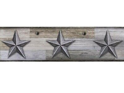 Primitive Gray Barn Stars Wallpaper Border Country Rustic Farmhouse 5 Yds Long Ebay