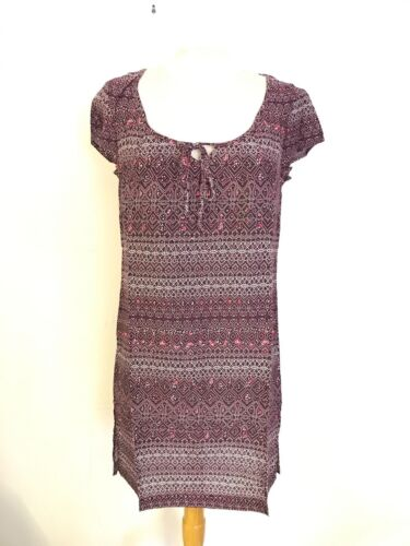 Ex White Stuff Patterned Tunic Blouse in Purple and Blue Size 10-16 P56