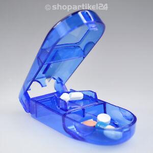 Tablettenteiler-Tablettenschneider-Pillenteiler-Pillenschneider-Tabletten-blau