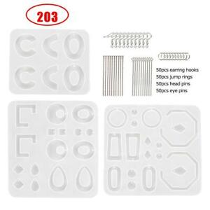 203-Pcs-DIY-Silicone-Resin-Earring-Mold-Epoxy-Casting-Clay-Jewelry-Making-SALE