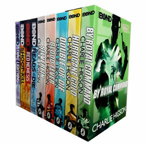 Young-Bond-Series-Collection-By-Charlie-Higson-amp-Steve-cole-9-Books-Set-Pack-NEW