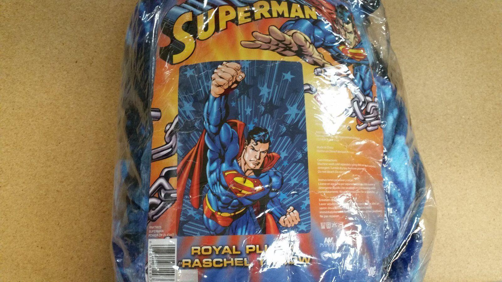 BRAND NEW SUPERMAN TWIN SIZE ACRYLIC 60X80 BLANKET