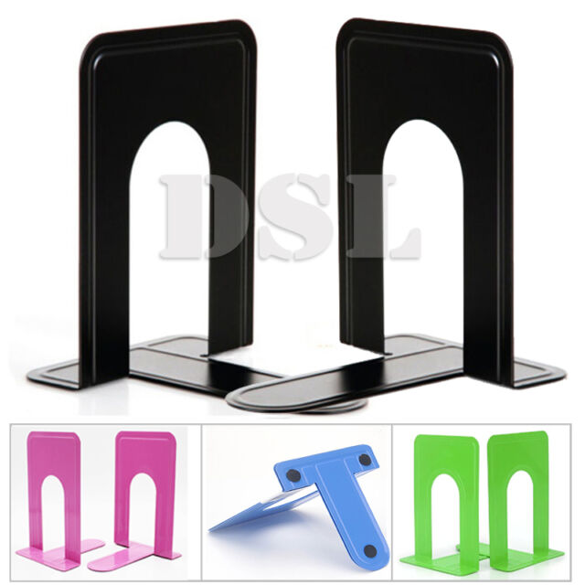 New Elements Small Book Ends Mod Bookends Office Color: Black