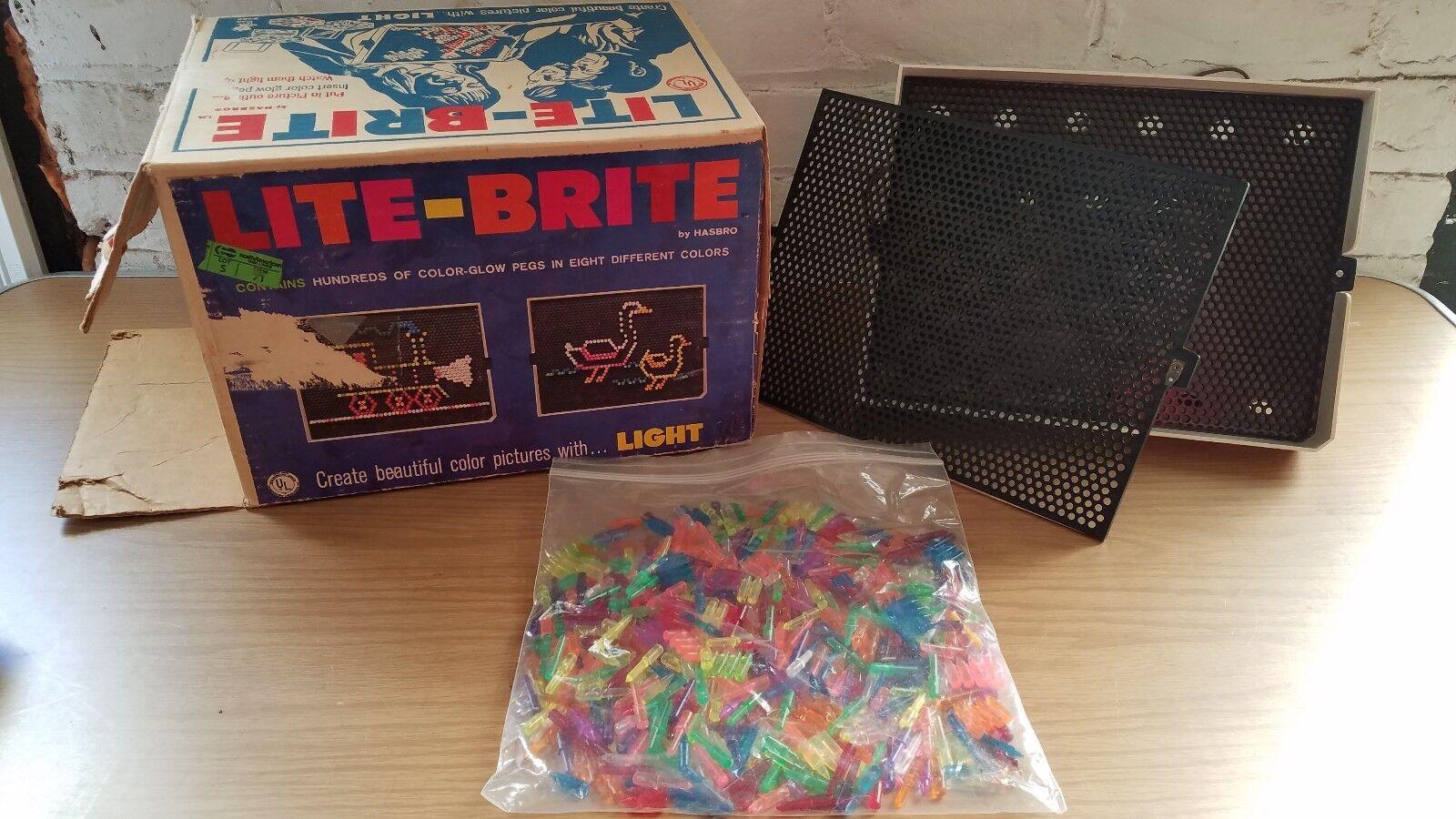 Jahrgang 1967 lite brite hasbro spielzeug 1 fotos funktioniert noch original - box