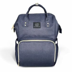 1864e7d6f0d85 Diaper Bag Waterproof Travel Backpack Nappy Bags for Baby Care Large Dark  Blue