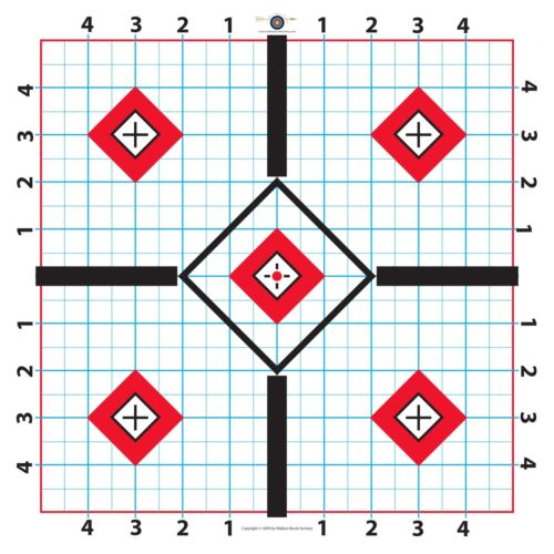 100 Yd Fat Boy Rifle Target-Great for Sighting in Scope-11.5 inch-25 sheets