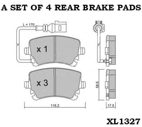 AUDI A6 AVANT QUATTRO SALOON MK3 REAR BRAKE PADS