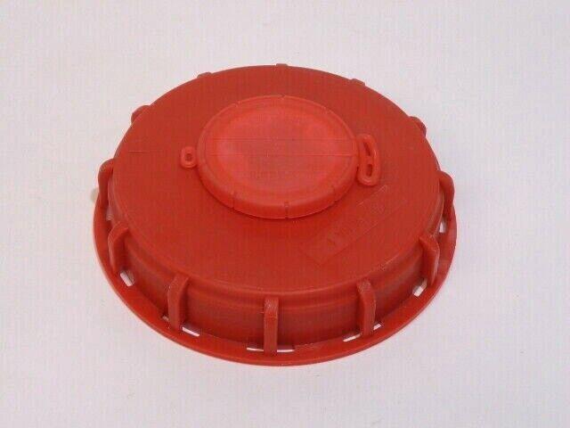 IBC TANK CAP VENTED GENUINE SCHUTZ SCREW TOP RED 150mm HEAVY DUTY WATER BUTT LID