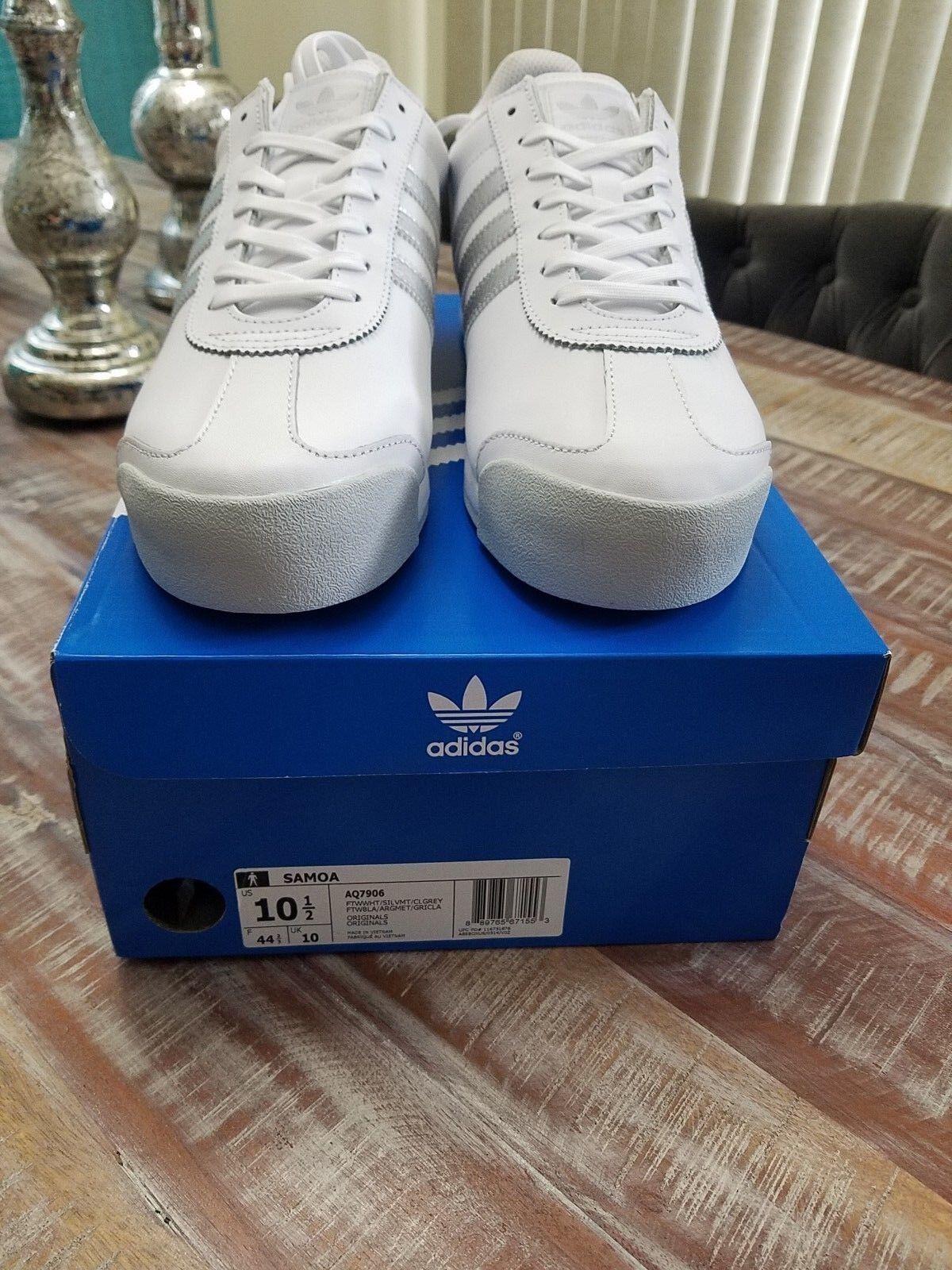 Adidas Samoa Men's Athletic shoes White Silver Grey Size 10.5