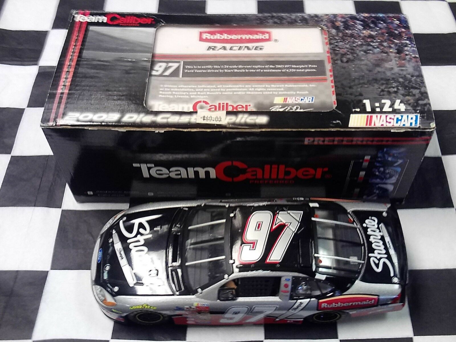 Kurt Busch  97 Sharpie stylos 2003 Team Caliber Preferrouge Series KB3P297SH NEW IN BOX