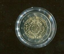 2 euro commemorativi 10° ann. euro 2012 - Austria