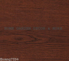 Dark Wood Grain Cherry Vinyl Contact Paper Shelf Drawer Liner Peel Stick
