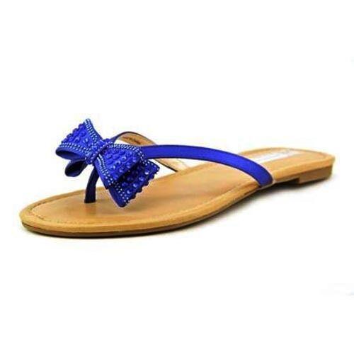 INC Malissa Bow Misty Eclipse Lagoon Blue Bisque Sparkly Flip Flops Sandals